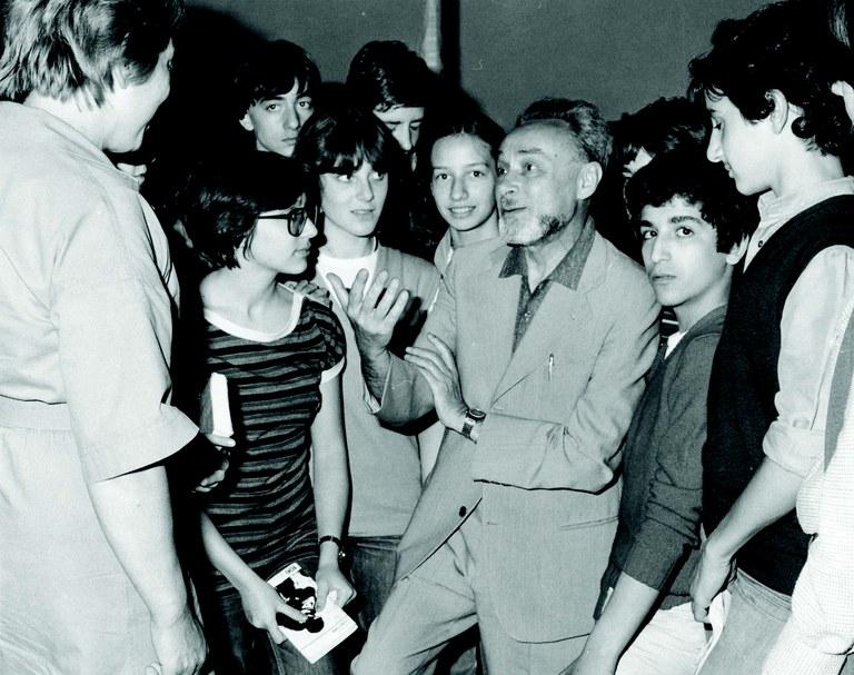 Primo Levi e studenti 1961