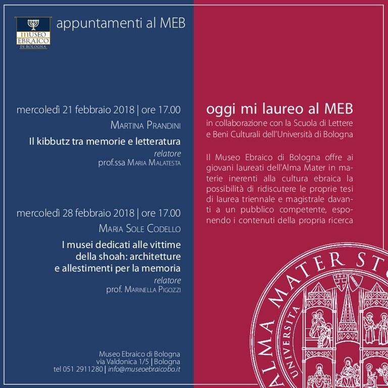 Laurea al MEB 2018