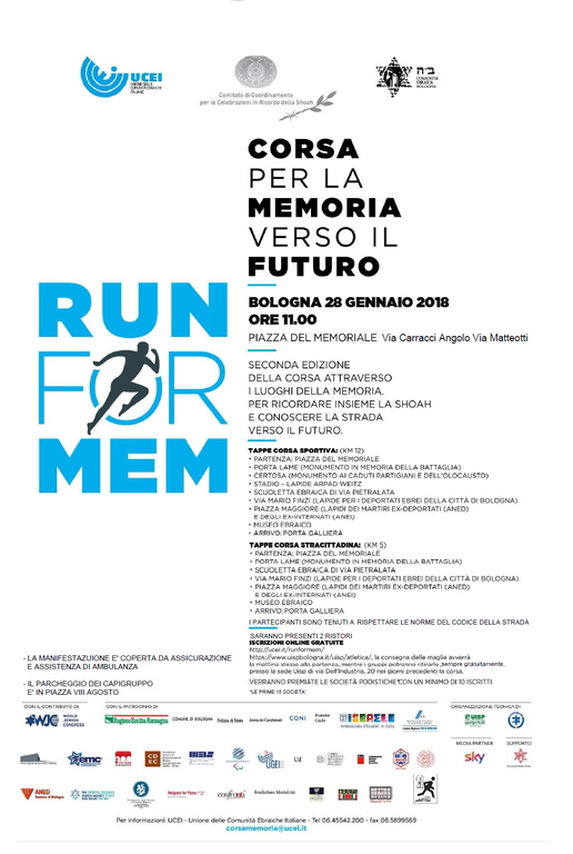 Volantino run for mem 2018