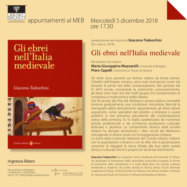 Ebrei Medievali 2018
