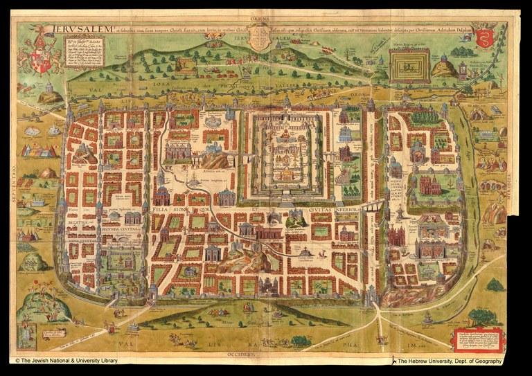 Tempio di Gerusalemme, mappa